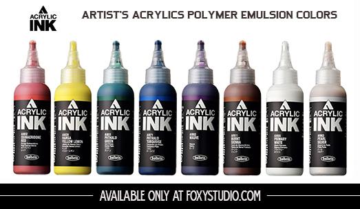 Is Acrylic Paint Toxic >> HOLBEIN Acrylink Ink 100ml – Yellow Ochre | Foxy Studio