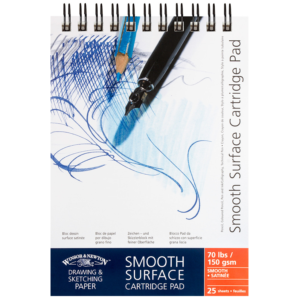 Winsor /& Newton A3 Smooth Surface Cartridge Spiral Pad