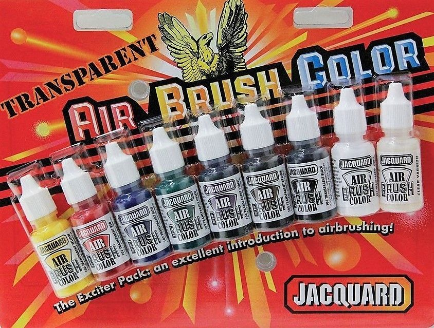 Jacquard Transparent 9 Colour Paint Set-1/2 oz 15ml Vinyl, Leather, Canvas,  Fabric